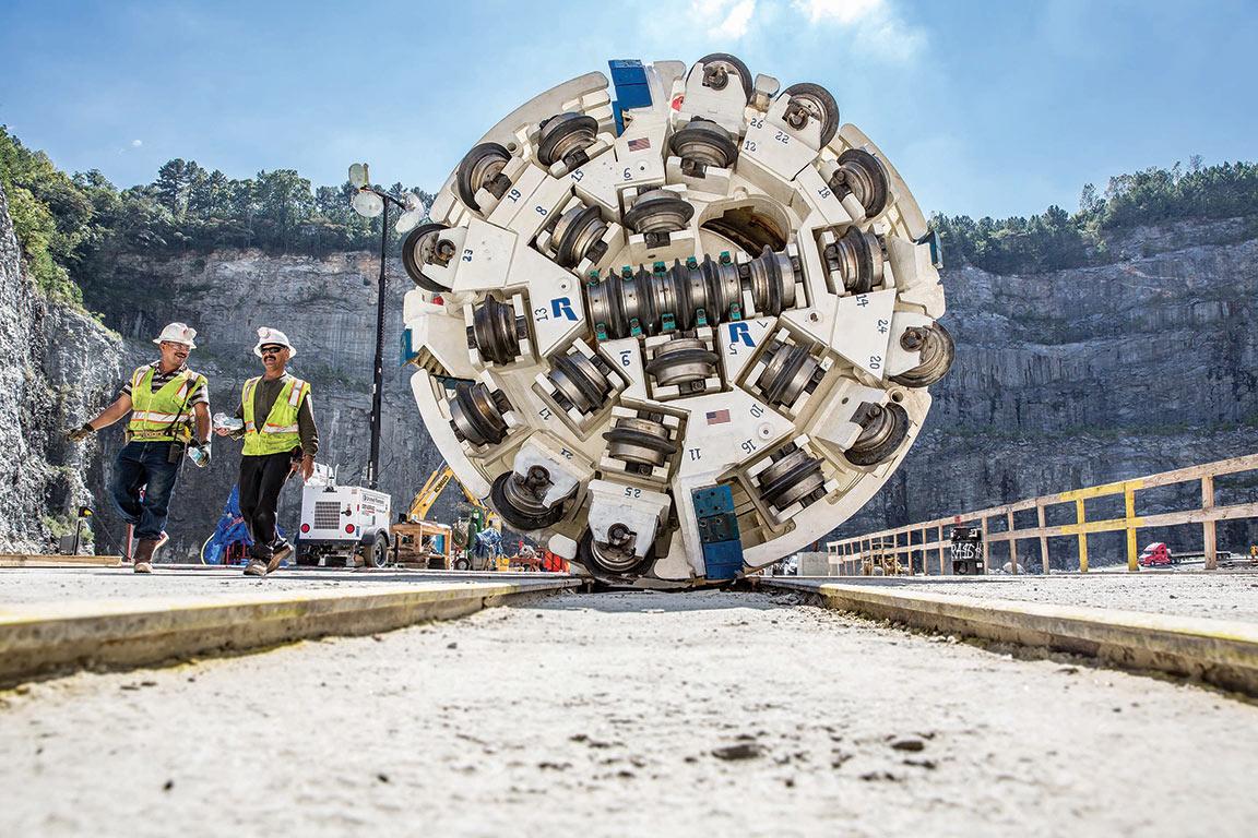 3.8m diameter Robbins main beam TBM