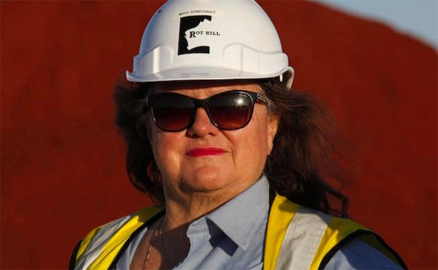 Australian mining and agriculture billionaire Gina Rinehart