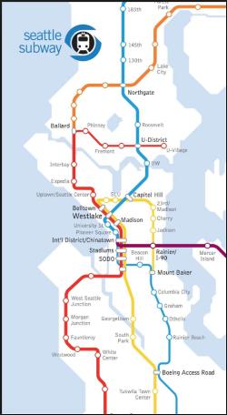 Seattle ST3 routes