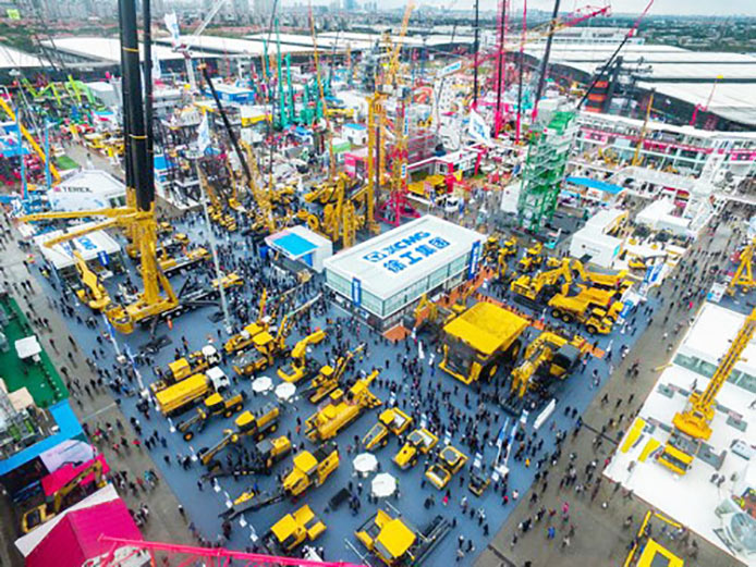XMCG stand at the bauma China 2016 trade show
