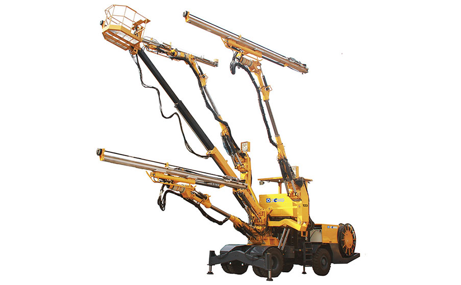 XCMG TZ3 three-boom hydraulic rock drill jumbo
