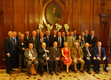 James Clark Medal recipients with BTS Committee Members at the 2016 celebration luncheon (Click on the photo to match names to faces)