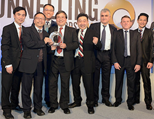 AECOM Asia and China State Construction team receive the Tunnelling Project of the Year of more than US$500 million for the Central–Wan Chai Bypass highway tunnel project in Hong Kong