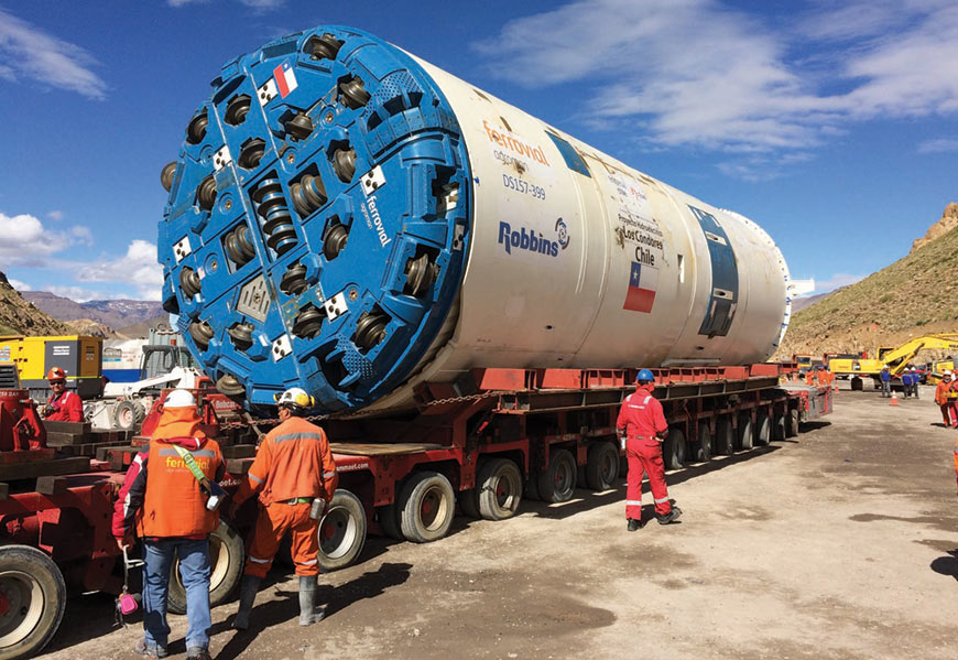 Robbins TBM arrives on site
