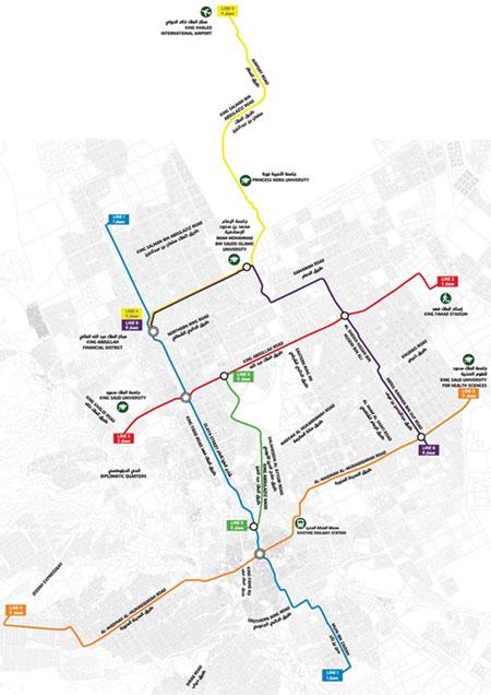 Fig 1. Network of the Riyadh Metro