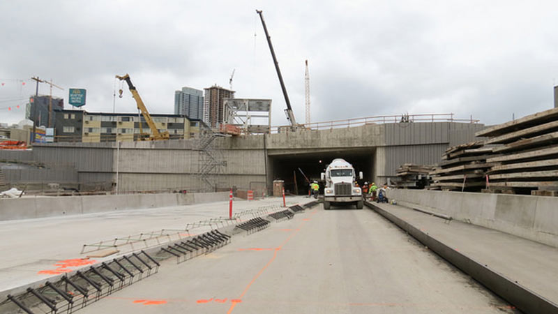 Work at the North Portal includes preparing for Bertha's pending breakthrough