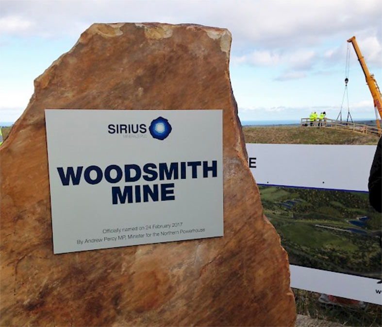 Work begins on the new Woodsmith Mine