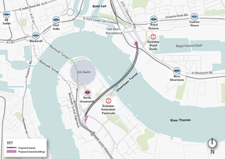 New Silvertown road underpass of the Thames in London approved