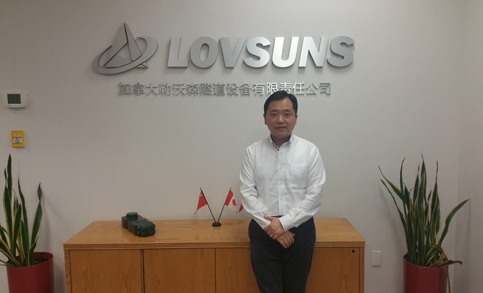 Hongyu Xue, Managing Director of Lovsuns Tunnelling Canada, speaks of global TBM marketplace strategy