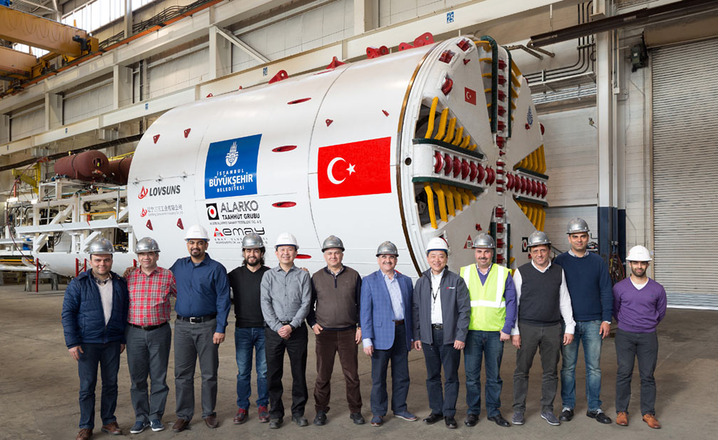 Lovsuns TBM with the client's team ready for dispatch to Turkey for the Istanbul Metro