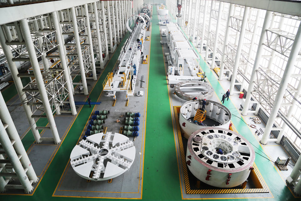 Assembly bay in the LNSS factory in China