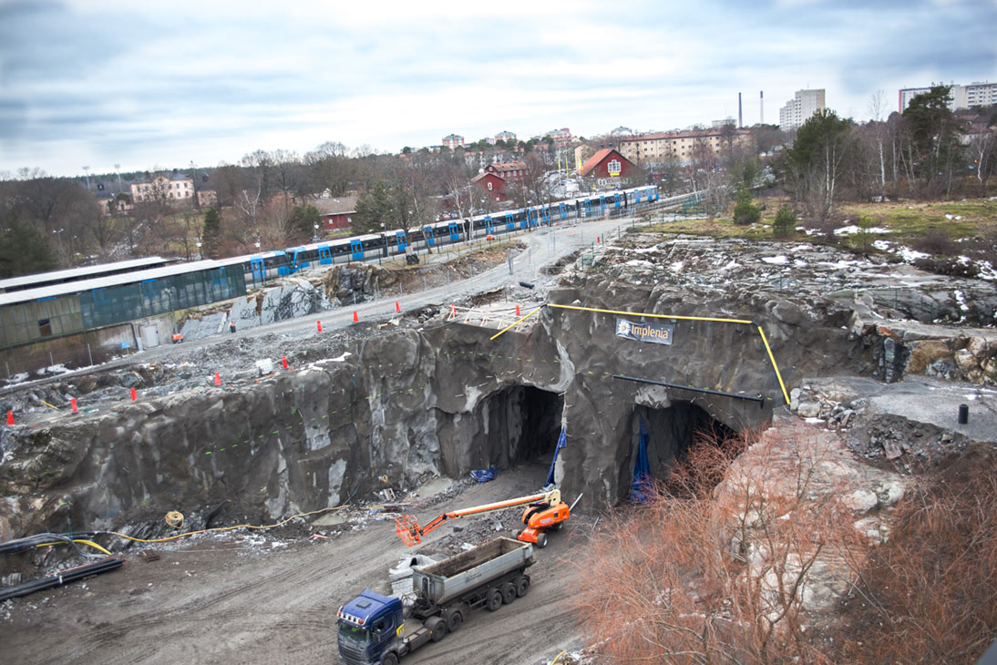 Johannelund Tunnel on the E4 Stockholm highway bypass