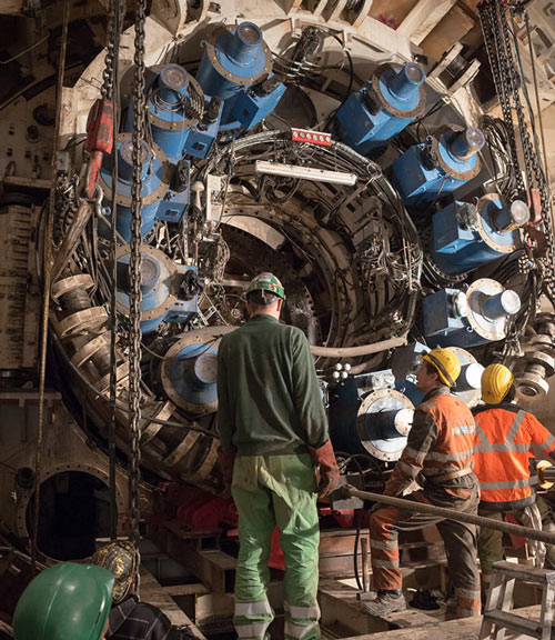 Filder TBM dismantled for relaunch on second drive