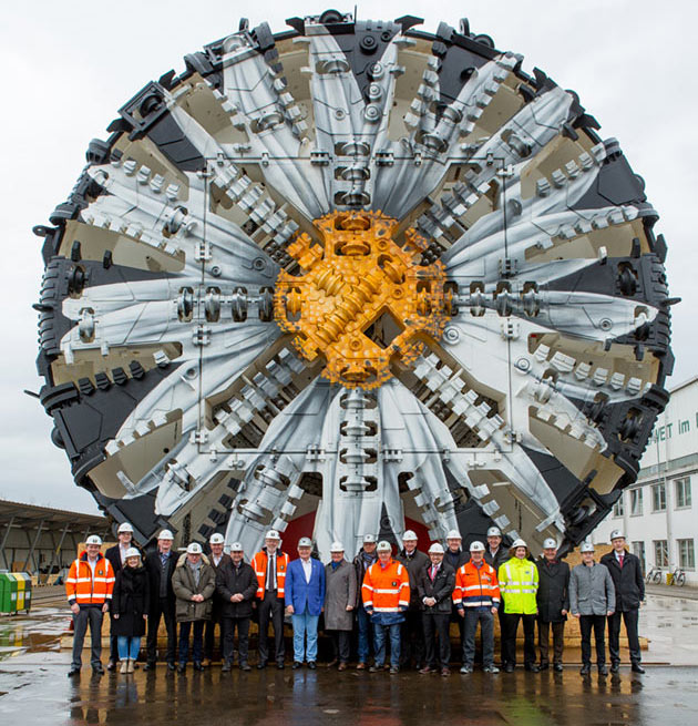 "Several Herrenknecht TBMs join open-face and drill+blast works to complete the underground alignments of the Deutsche Bahn project"" style=""width:280px;height:auto;"