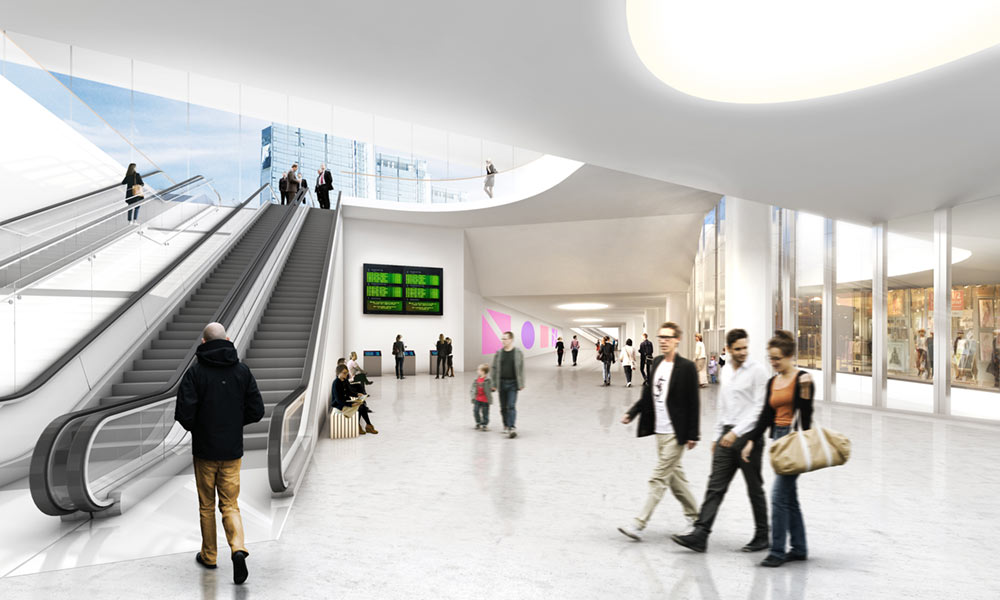 Visual concept of Korsvagen Station