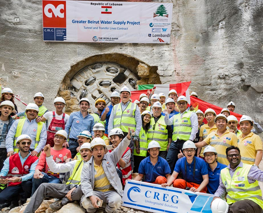 TBM breakthrough in Lebanon