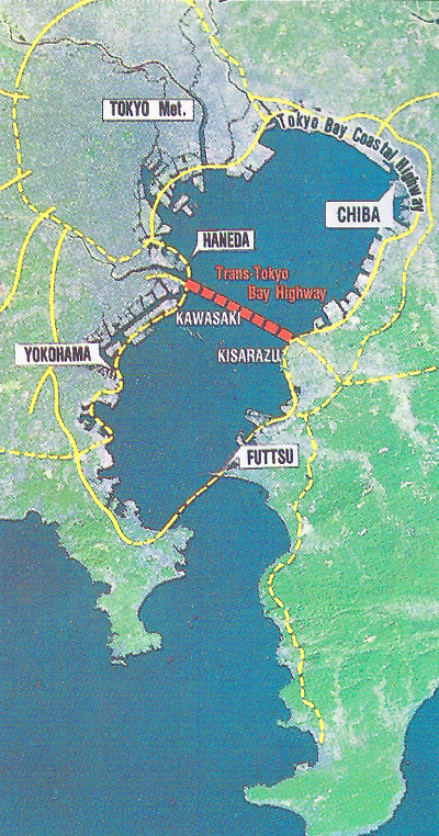 Fig 2. Trans-Tokyo Bay is part of a larger highway strategy
