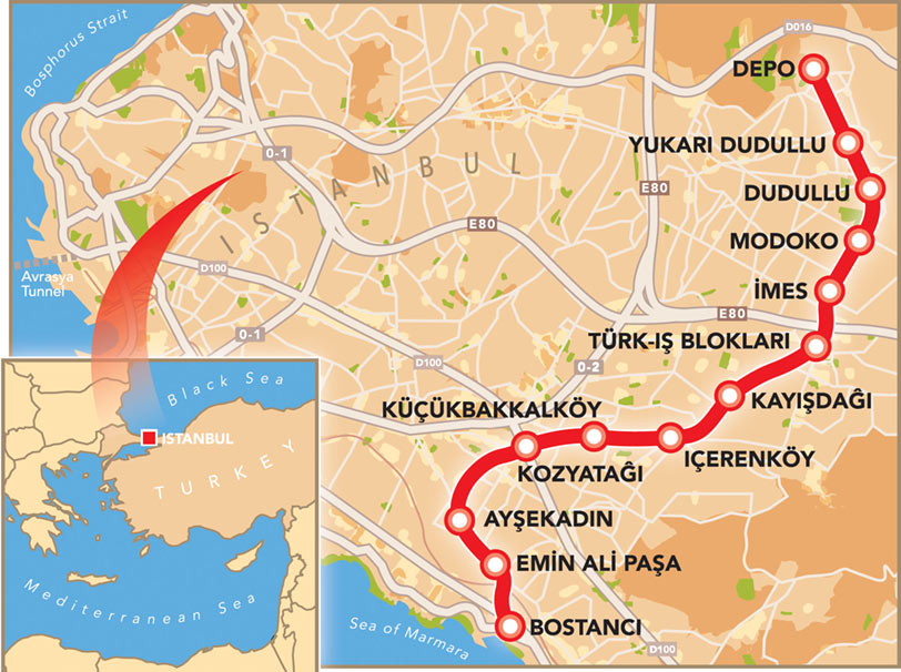 Fig 1. Latest expansion of Istanbul Metro system