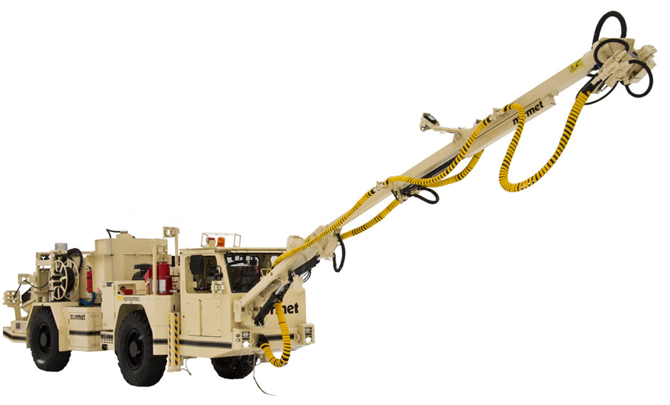 Normet Spraymec LF 050 DC for concrete spraying