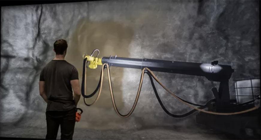 Edvirt 3D shotcrete simulator