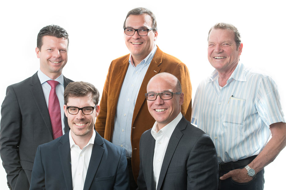 Partners (left to right) Jürgen Laubbichler, Christian Karner, Thomas Schwind, Gerald Skalla, Gerhard Sauer