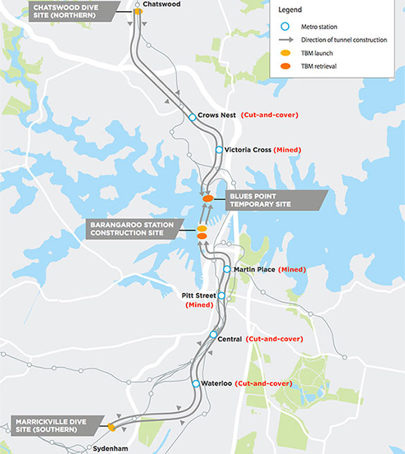 Fig 1. Sydney Metro Southwest alignment and stations
