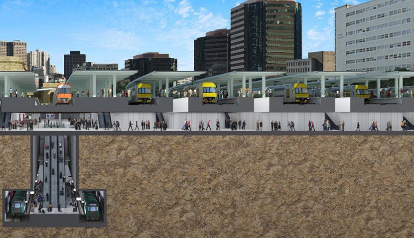 Sydney Central Station excavation works