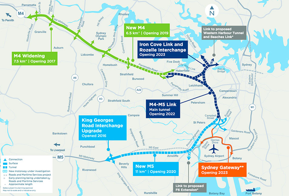 Fig 2. WestConnex bypass for Sydney