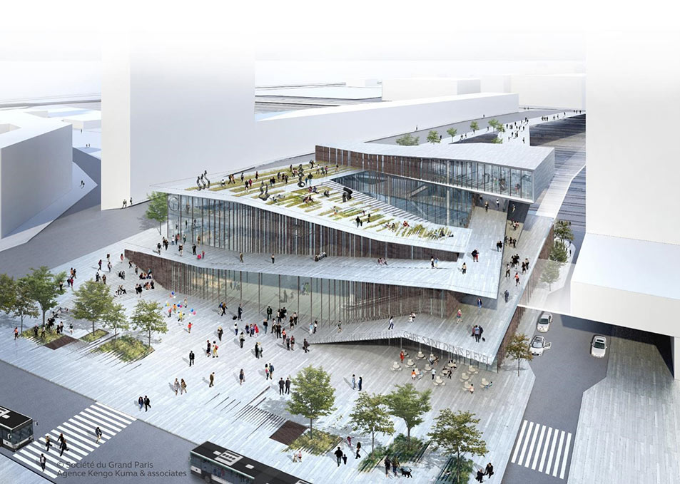 Grand Paris Express will stimulate urban development as here at the Saint Denis Pleyel Station
