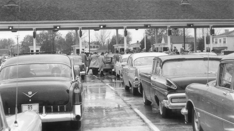 Opening day, 1 Nov 1956