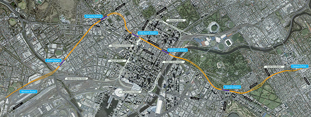 Melbourne Metro extension alignment