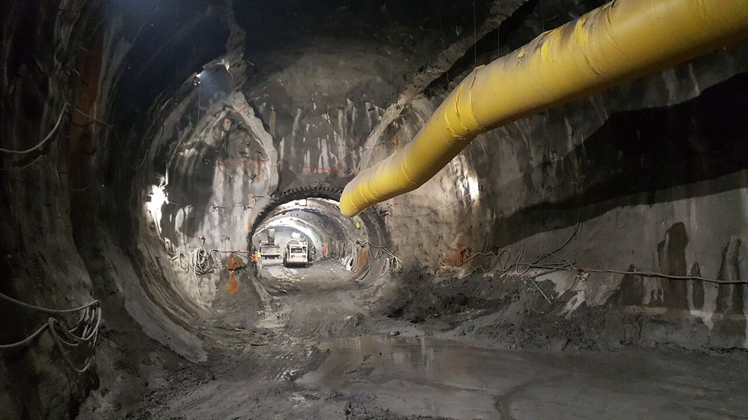 SME/NATM excavation for the Ottawa Confederation Line LRT