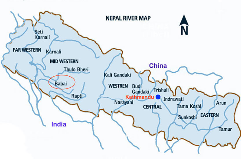 Fig 1. Water will convey from the Bheri River to the Babai River