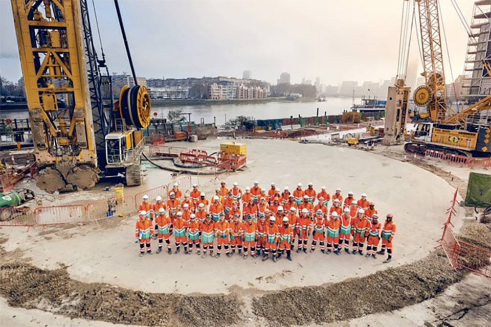 30m diameter shaft to start excavation on Tideway