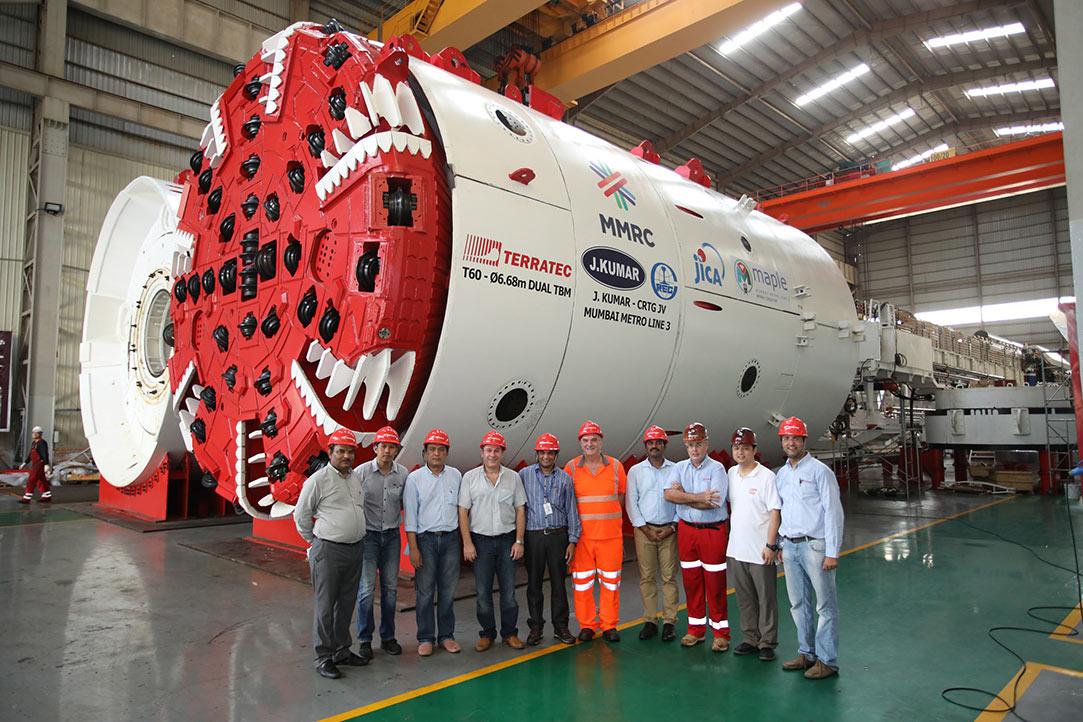 First of three machines for the Kumar / China Railway JV