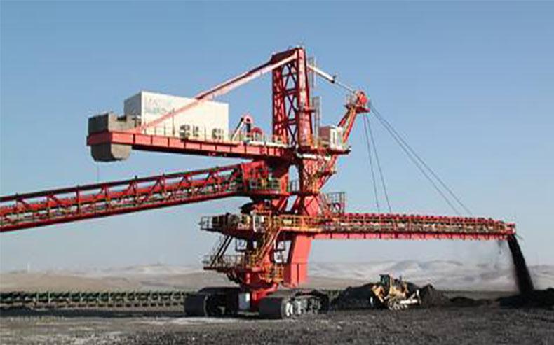 A variety of Sandvik mining operation equipment