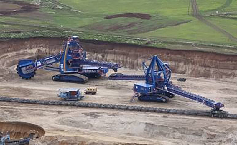 Sandvik mining systems equipment in operation