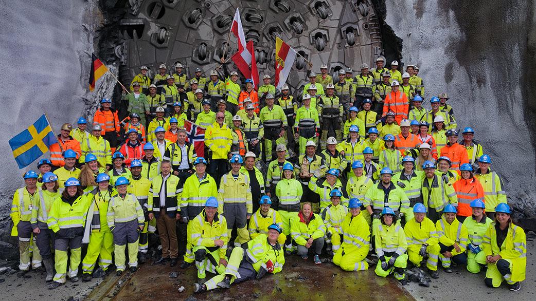TBM breakthrough celebration at New Ulriken project, Norway