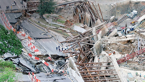 Nicoll Highway collapse in 2004 the defining failure of that decade