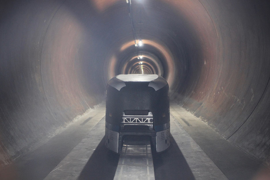The WARR Hyperloop pod travelled at 324km/hr