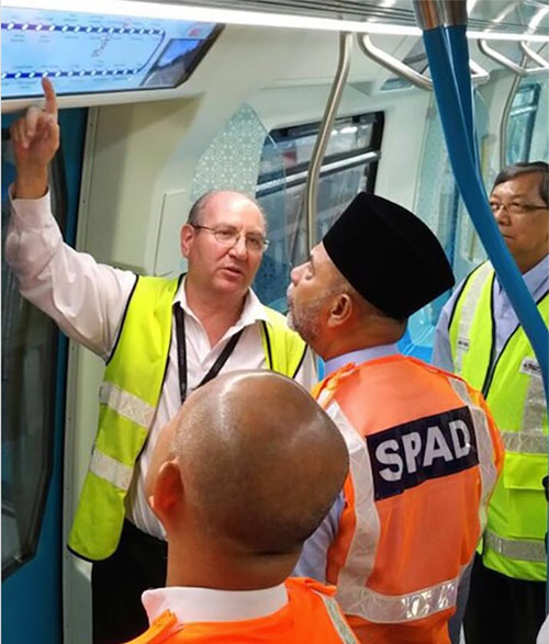 Government tour of completed KVMRT Line 1
