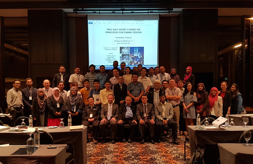 ITA-CET Principles of Tunnel Design course in Malaysia