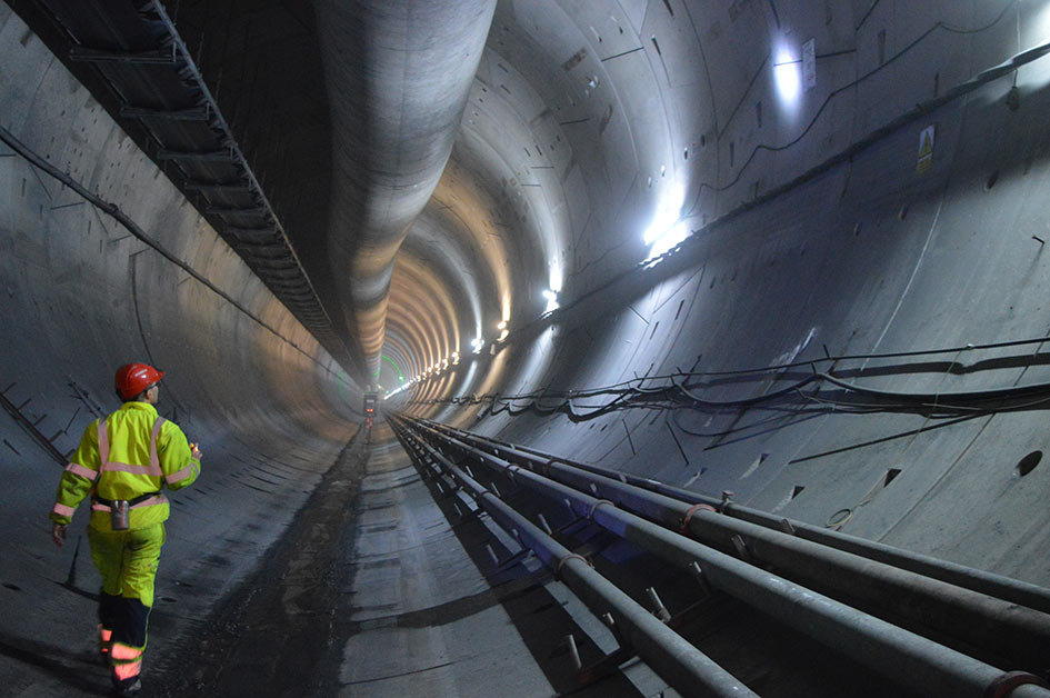 Tunnel under construction with VIP patented gaskets