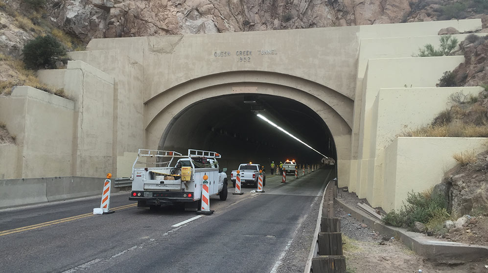 Improved lighting for the Queen Creek Tunnel, Arizona