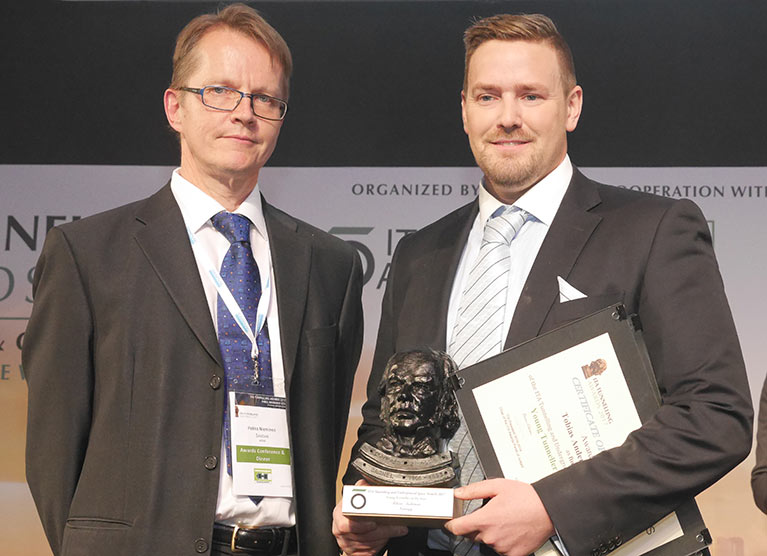 Tobias Andersson, Young Tunneller of the Year (right)