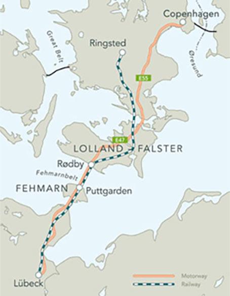 Fehmarn sea link is an EU TEN-T corridor project