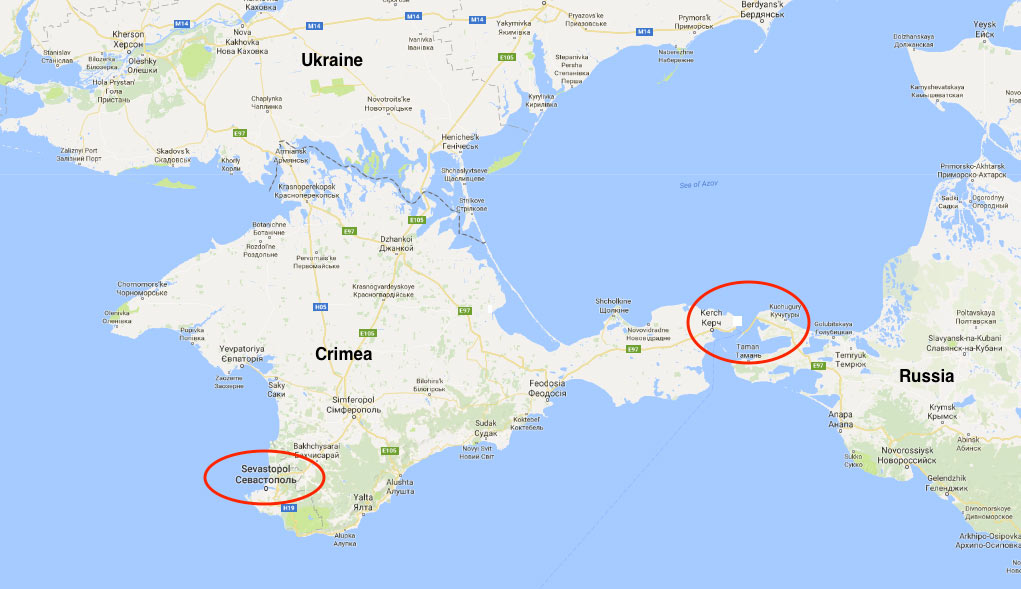 A fixed-link bridge is being built across the Kerch Strait from Russia to consolidate Russian influence on the peninsula