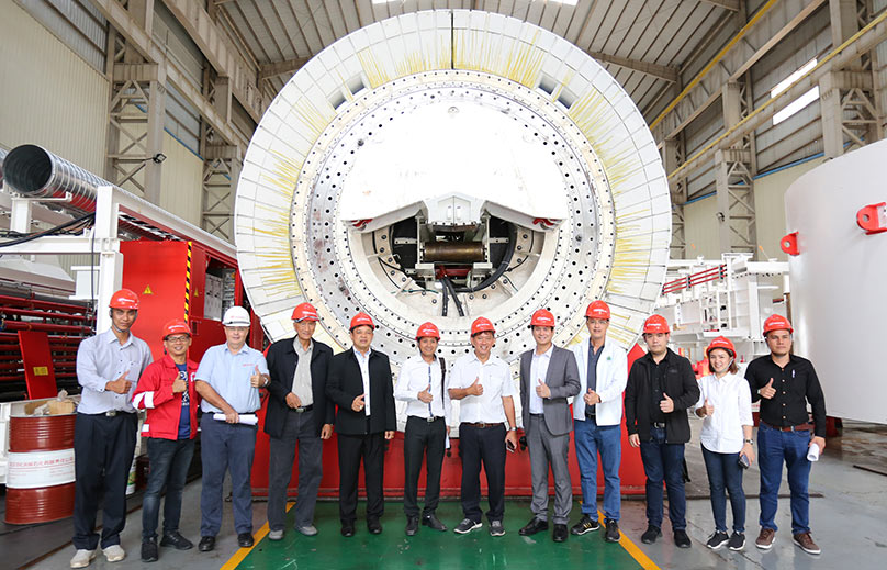 Celebrating the arrival of the TBMs for the Mae Tang-Mae Ngad project
