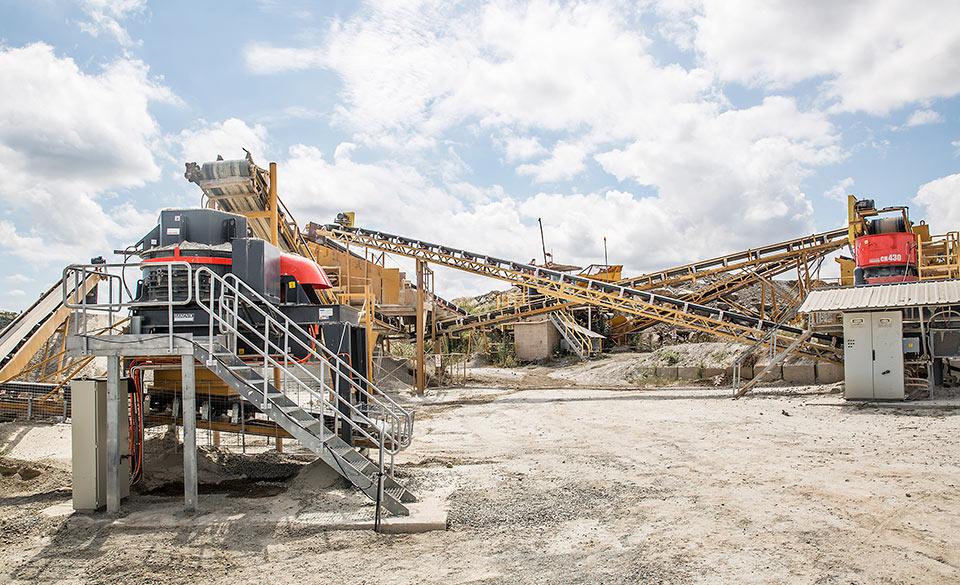 Sandvik stationary plant manufacturing sand