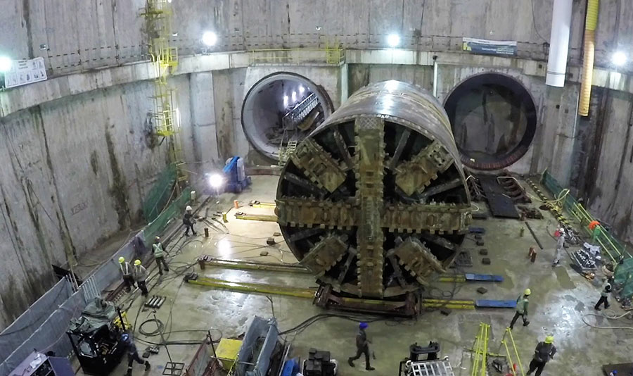 TBM repositioned for its next drive